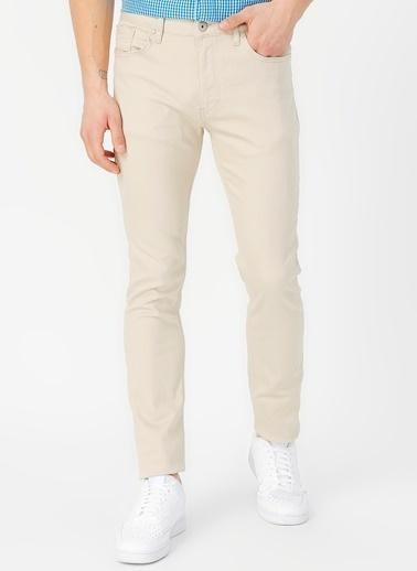 Limon Company Peter Pamuklu Cepli Dar Paça Slim Fit Erkek Pantolon Bej